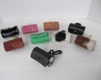 Leather Dog Poo Bag Dispenser