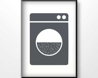laundry poster etsy. Black Bedroom Furniture Sets. Home Design Ideas