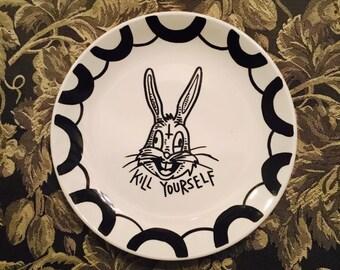 Kill Yourself - decorative plate