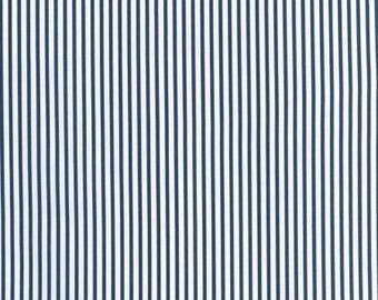 Sevenberry Navy Stripe - Robert Kaufman Petite Basics Navy and White Stripe - SB-88190D5-9 Navy