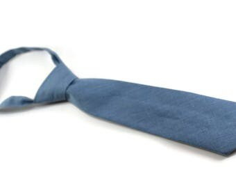 lightweight blue denim necktie/tie for boys.