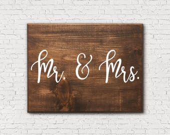 Wooden Mr And Mrs Sign - Wood Mr And Mrs Sign - Wood Mr Sign - Wood Mrs Sign - Rustic Wedding Decor - Rustic Wedding Sign - Wedding Gift