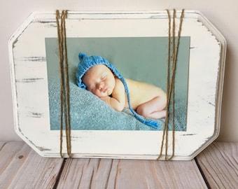 Baby Boy - Picture Frame - Nursery Decor - Baby - New Mom Gift - Woodland Nursery - Wood Frame - Rustic Nursery Decor - Rustic Home Decor