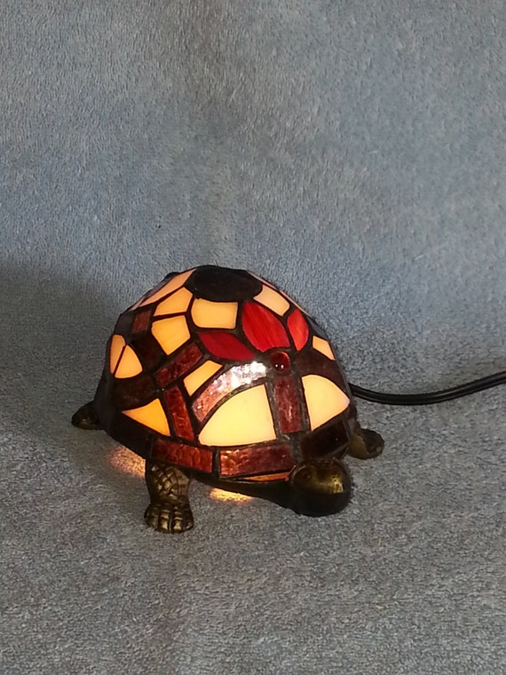 Turtle nightlight accent lamp stained glass - Turtle nite light ...