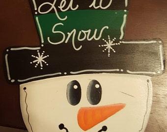Medium Snowman Face Ornament