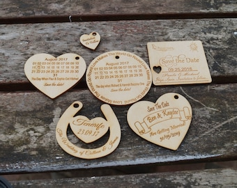Sample wooden save the date, save the date magnets, save the date, engraved stationery, personalised wedding,wedding invitation