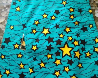 6 yards Stars African Wax Print