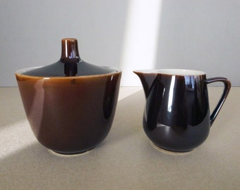 German Vintage 50's - 60's Villeroy and Boch Luxembourg Set of Sugar Pot and Creamer / Milk Pitcher Mid Century Modern