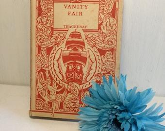Vintage 1930s Art Deco Original Dust Jacket Vanity Fair - Odhams London - Thackeray - Antique Library