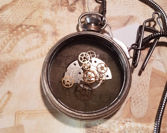 Handmade steam punk inspired pocket watch