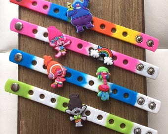 Trolls PARTY FAVORS Charm Bracelets