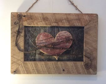 Primitive Wall Decor, Rustic Wall Hanging, Wall Art, Reclaimed Wall Decor, Primitive Sign