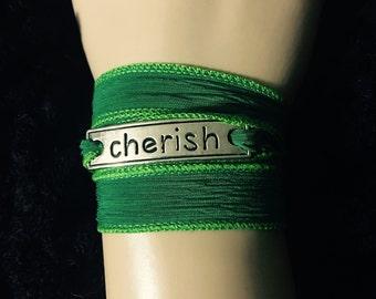 Just Wrap Bracelet (Hunter Green)