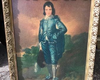 Vintage Blue Boy Framed Print
