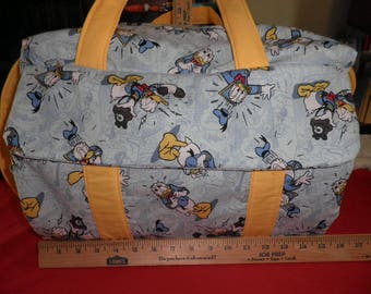 Diaper Bag & Changing Pad made with Donald Duck Disney Fabric