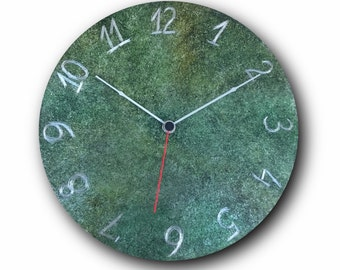 Small wall clock, Home decor, interior design accessories, Hand made clock, design clock, clock, rustic clock, clocks