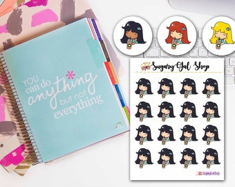 Lady D Frappe Planner Sticker Sheet