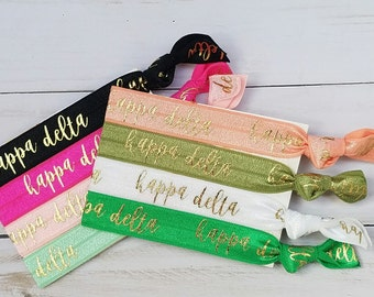KAPPA DELTA Words Hair Ties | Choose Your Own Hair Tie | 1 Hair Tie