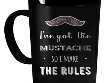 Mustache Coffee Mug 11 oz. Perfect Gift for Your Dad, Mom, Boyfriend, Girlfriend, or Friend - Proudly Made in the USA! Mustache gift