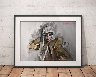Lady Gaga Print Lady Gaga poster wall art home decor