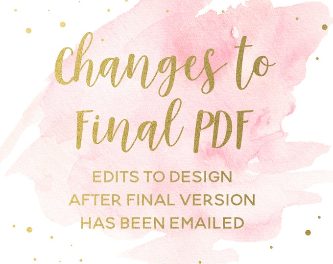 Additional Changes to Final PDF, Add-on