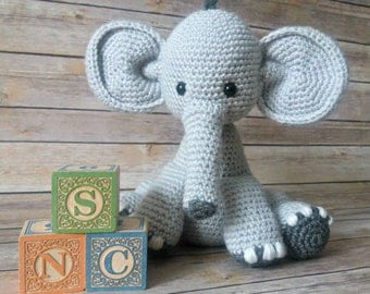 Stuffed Elephant Toy - Elephant Crochet Toy - Elephant Plushy - Plush Elephant Toy - Elephant Doll - Elephant Plush - Elephant Nursery Toy