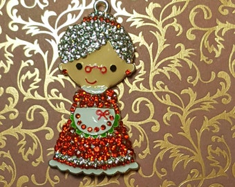 Sweet Mrs.Claus Needle minder / Strong Magnets/ Needle Nanny / Needle Minder / Chart Magnets / Needle Holder/ Neodymium / Rare Earth