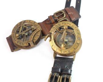Steampunk Watch, Steampunk sundial\compass bracelet