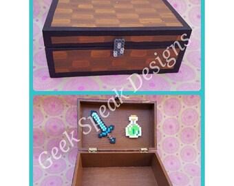 Minecraft large storage chest decorative box