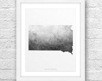 South Dakota Map, South Dakota Print, South Dakota Art, South Dakota State, South Dakota Minimal, Minimalist Art, South Dakota Printable