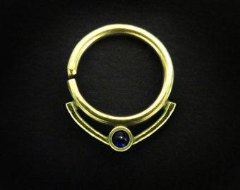 Queen Leyla, septum jewelry, 16g, septum piercing, cartilage hoop, helix earring, daith piercing, silver septum ring, small septum, Tragus