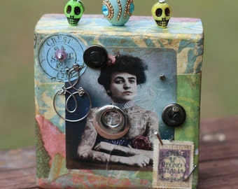Mixed Media Assemblage Block