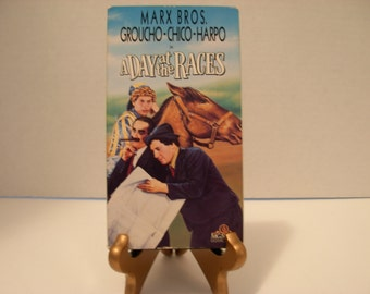 A Day at the Races, VHS Tape, Marx Bros, Groucho, Chico, Harpo, Black White, Free Shipping