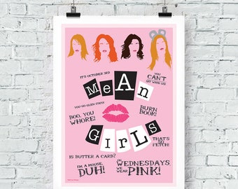 Mean Girls Print Wall Art poster