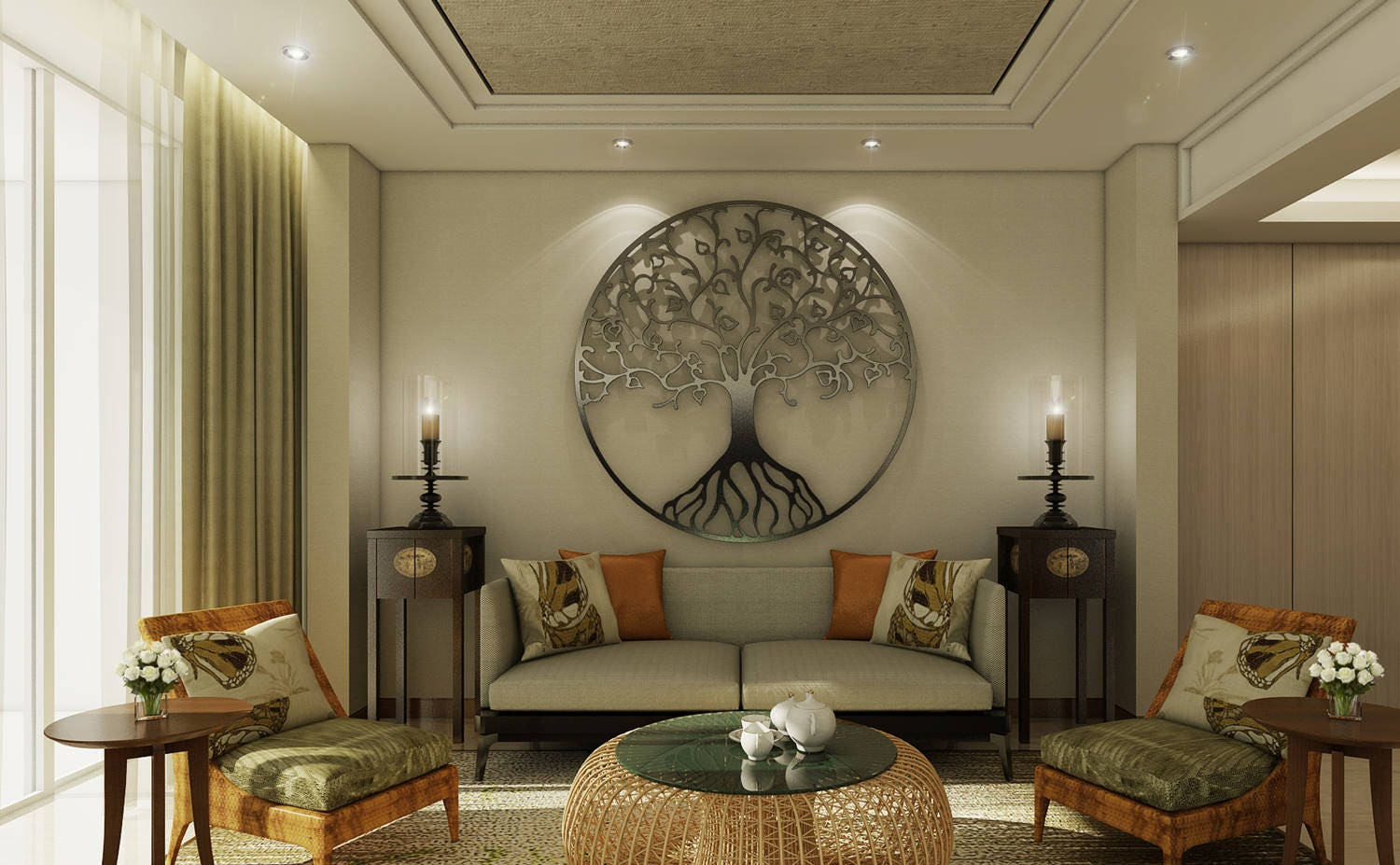 bronze tree of life metal wall art sculpture tree metal wall. Black Bedroom Furniture Sets. Home Design Ideas