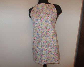 Handmade Colorful Floral Full Apron
