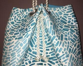 Turquoise Circles Squash Blossom Bag