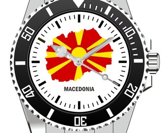 Macedonia Macedonia country outline clock - watch 1125