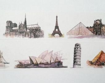Design Washi tape sightseeing vacation