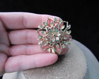 Vintage Signed Sarah Coventry Floral Pin