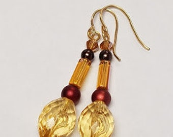 Shades of Yellow Dangle Earrings