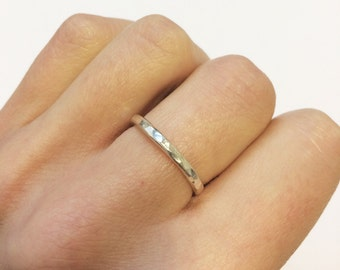 Sterling Silver Delicate Hammered Ring
