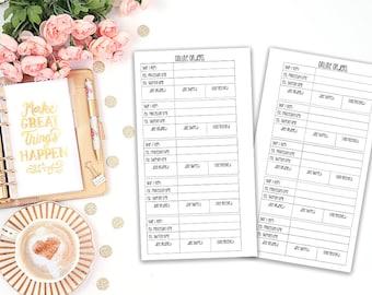 online order tracker printable planner insert - Filofax personal - Kikki K Medium - print at home - planner refill - personal insert