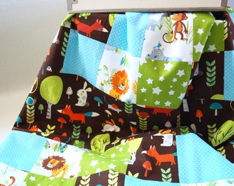 Handmade Baby Blanket - Soft Baby Blanket - Baby Boy Blanket - Baby Girl Blanket - Patchwork Baby Blanket