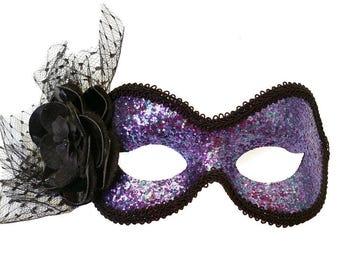 Amethyst Purple Masquerade Mask - U075
