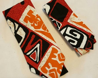 Hawaiian Print Necktie - Boys