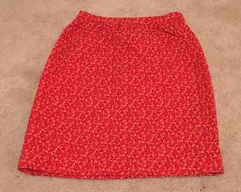 Handmade 60s Quilted Mini Skirt