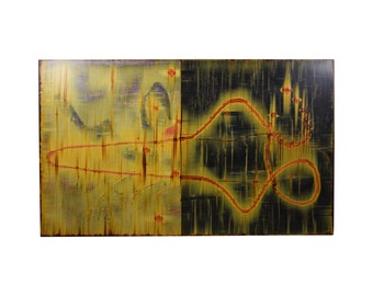 """Michael Kessler """"Oscillations of an Unborn Universe"""" Abstract Painting"""