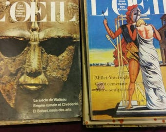 L'Oeil - 12 magazines from the ' 60 and ' 70