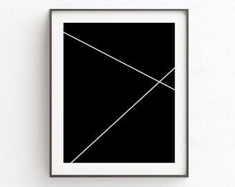 Modern Black White Wall Print, Livingroom Decor, Wall Pictures, Modern Black Wall Poster, Modern Art, Contemporary Art